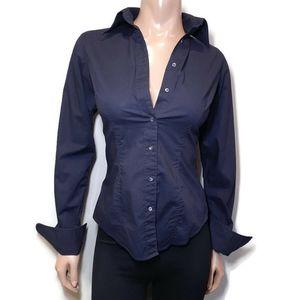 🍁 GAP Button Down Shirt Fitted Stretch Flip Cuff
